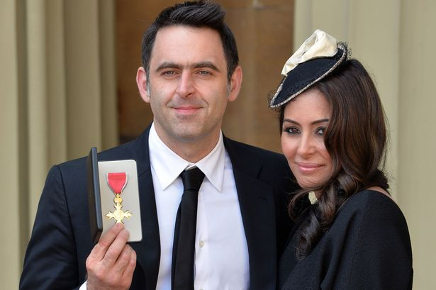 snooker-player-ronnie-osullivan-poses-with-his-partner-laila-rouass