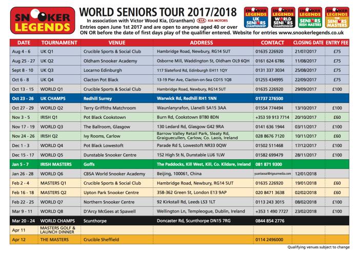 Seniors 2017:18 Calendar