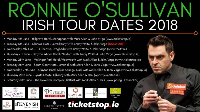 Irish Tour 2018
