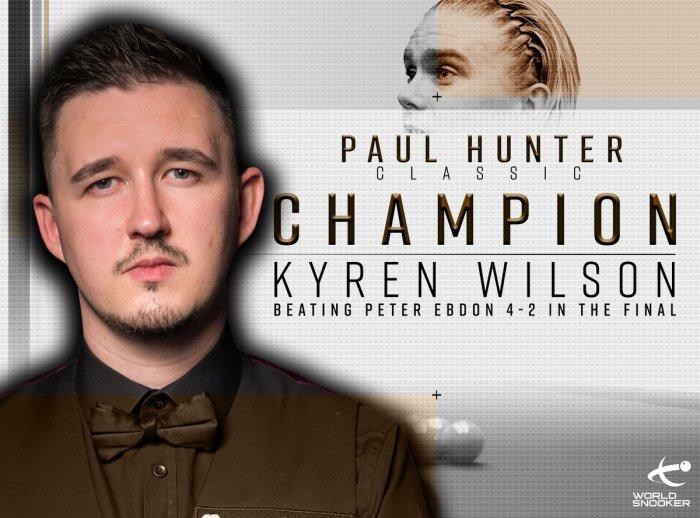 Kyren Wilson PHC 2018 Winner