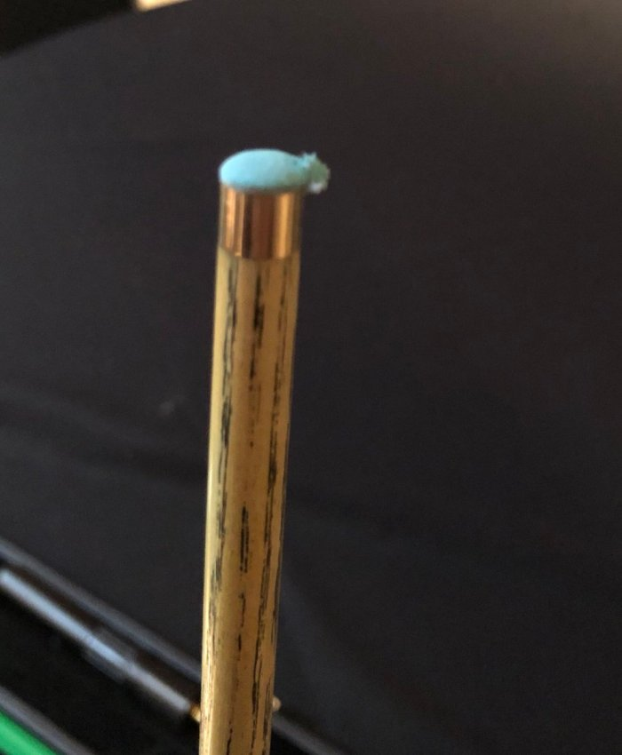 Masters 2019 Luca damaged tip