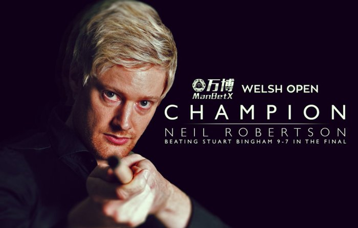 Neil Robertson Welsh Open 2019 Champion