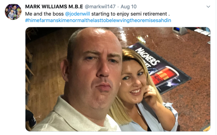 Mark Williams Semi Retires 10.08.2019