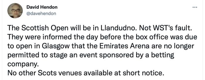 Scottish Open Hendon twitYester 2021-08-18