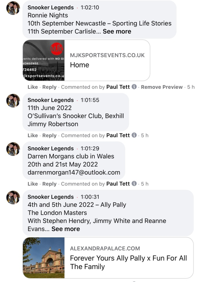 2021-09-07 Ronnie announcements -1
