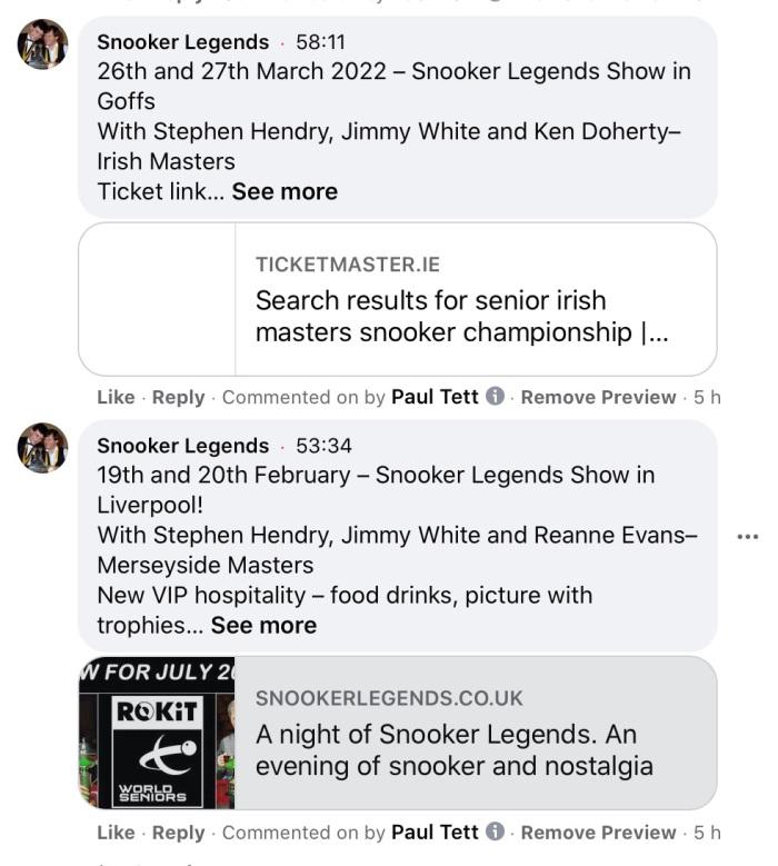 2021-09-07 Ronnie announcements -2