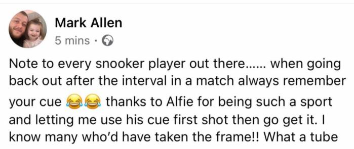 Mark Allen - German Masters quals 2021-10-23 at 09.14.07